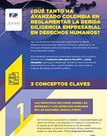 ¿Qué tanto ha avanzado Colombia en reglamentar la debida diligencia empresarial en derechos humanos?