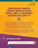 ¿cómo pueden las empresas prevenir y mitigar los riesgos contra la niñez y la adolescencia agudizados por el COVID-19?La iniciativa multiactor Guías Colombia en Empresas, Derechos Humanos y Derecho In